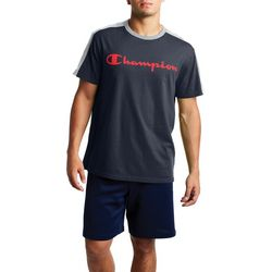 Champion Mens Sportstyle Colorblocked Short Sleeve T-Shirt