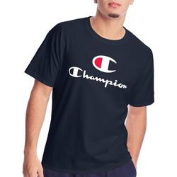 Champion Mens Short Sleeve Classic Logo T-Shirt