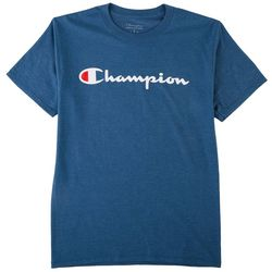 Champion Mens Heather Script Logo T-Shirt