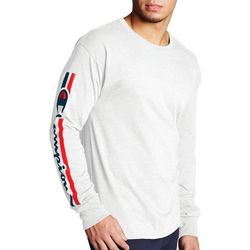 Champion Mens Long Sleeve Vertical Logo T-Shirt