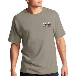 Champion Mens Small Chest Graphic Crew Neck T-Shirt
