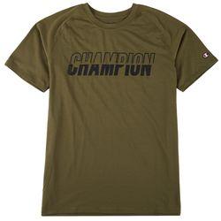 Champion Mens Graphic City Split Logo T-Shirt