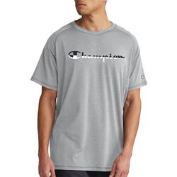 Champion Mens Graphic City Two-Tone Logo T-Shirt