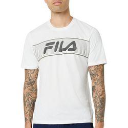 Fila Mens Eshan Chest Stripe Wordmark Short Sleeve T-Shirt