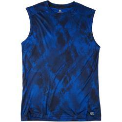 Russel Athetics Mens Tie Dye Performance Tank