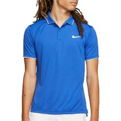Nike Mens Solid Short Sleeve Tennis Polo