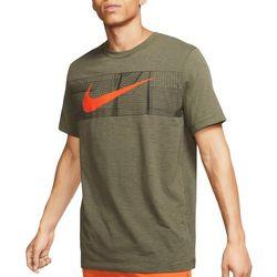 Nike Mens Dri-Fit Slub Swoosh Short Sleeve T-Shirt