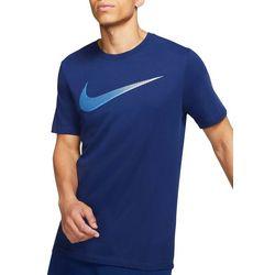 Nike Mens Dri-Fit Swoosh Short Sleeve T-Shirt