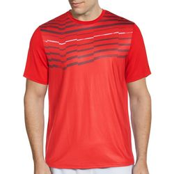 Grand Slam Mens Asymmetrical Stripe Short Sleeve T-Shirt