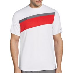 Grand Slam Mens Diagonal Stripe Short Sleeve T-Shirt