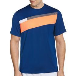 Mens Diagonal Stripe Short Sleeve T-Shirt