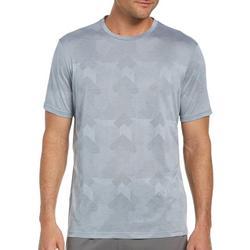 Mens Graphic Printed Jaquard Short Sleeve T-Shirt