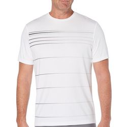 Grand Slam Mens Stripe Short Sleeve Crew T-Shirt
