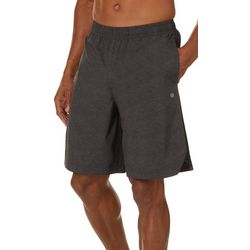 Space Dyed Mesh Side Woven Shorts