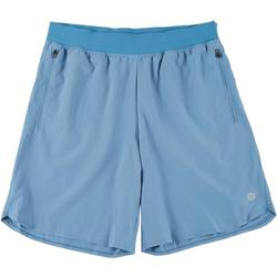Mens Woven Solid Athletic Shorts