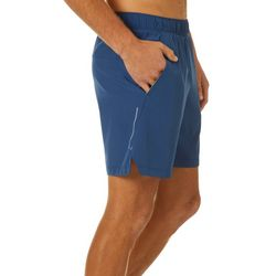Mens Woven Solid Running Shorts
