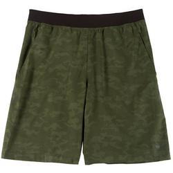 Mens Woven Camo Shorts