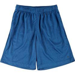 Mens Solid Mesh Shorts