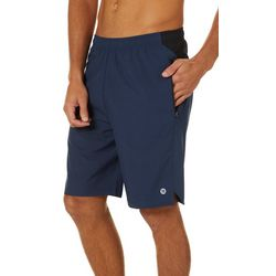 Mens Woven Solid Stretch Athletic Shorts