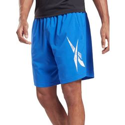 Reebok Mens Workout Ready Solid Graphic Shorts