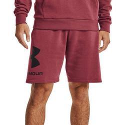 Mens UA Rival Fleece Matte Shorts