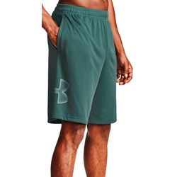 Mens Solid Tech Graphic Shorts
