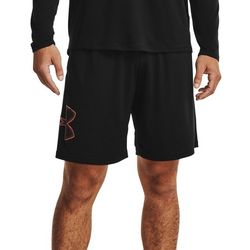 Under Armour Mens Tech Charcoal Shaded Logo Graphic Shorts