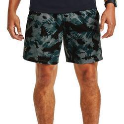 Mens UA Launch 7 Printed Shorts