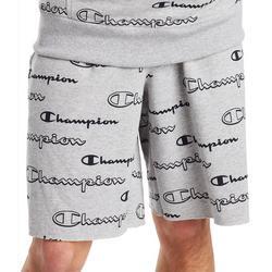 Mens 10 All Over Logo Print Shorts