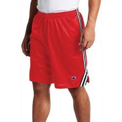 Mens Solid Mesh Side Stripe Shorts