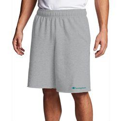 Champion Mens Heathered Fleece Script Logo Shorts