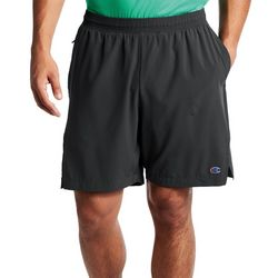 Mens Solid Lined Sports Shorts