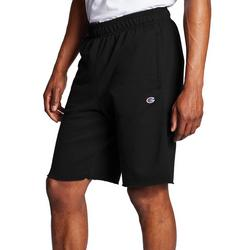 Mens Solid Powerblend Fleece Shorts