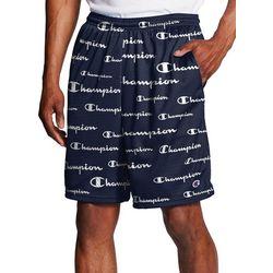 Mens All Over Logo Mesh Shorts