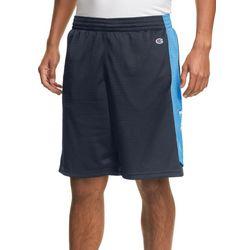 Champion Mens Mesh Side Stripe Basketball Shorts