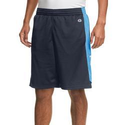 Mens Mesh Side Stripe Basketball Shorts