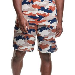 Champion Mens Camo Long Mesh Pocket Shorts