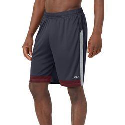 Fila Mens Solid Mirza Colorblock Athletic Shorts