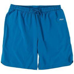 Fila Mens Solid Maaz Solid Athletic Shorts