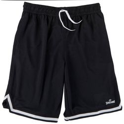 Spalding Mens Solid Contrast Trim Basketball Shorts