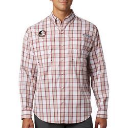 Mens Super Tamiami Plaid Long Sleeve Shirt