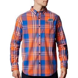 Florida Gators Mens Rapid Rivers Plaid Long Sleeve Shirt
