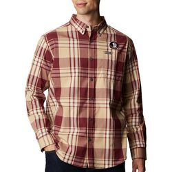 Florida State Mens Rapid Rivers Plaid Long Sleeve Shirt