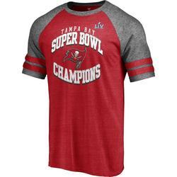 Buccaneers Mens Super Bowl LV Champions Raglan T-Shirt