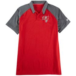 Buccaneers Mens Logo Embroidered Raglan Polo Shirt by