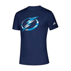 Tampa Bay Lightning Mens Brush Logo T-Shirt by Adidas