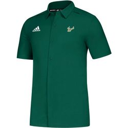 USF Bulls Mens Sideline Button Down Shirt by Adidas
