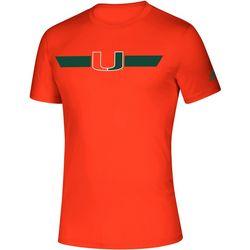 Miami Hurricanes Mens Locker Stripe T-Shirt by Adidas