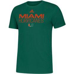 Miami Hurricanes Mens Locker Stacked T-Shirt by Adidas
