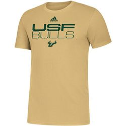 USF Bulls Mens Locker Stacked T-Shirt by Adidas